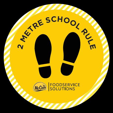 2 Metre School Rule Stickers